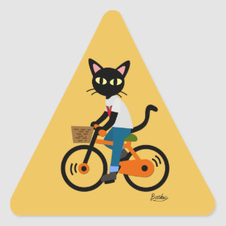 Summer cycling triangle sticker
