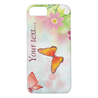 Summer daisies and butterflies iPhone 7 case