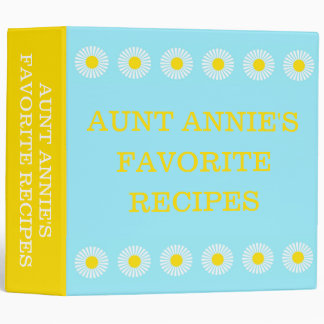 Summer Daisies Personalized Recipe Binders