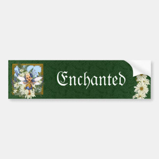 Summer Daisy Blue Fae Bumper Sticker