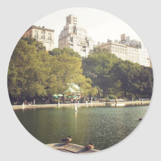 Summer Day, Central Park, New York City Round Sticker