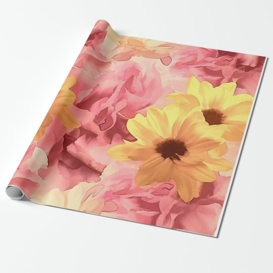 Summer Day Floral Wrapping Paper