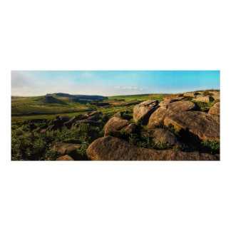 Summer Day in the Peak District Poster