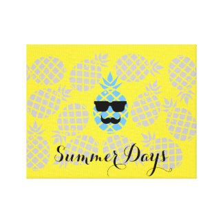 """Summer Days"" Pineapple Canvas"