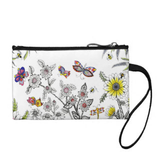 Summer Days Zen Doodle Design Cosmetic Bag