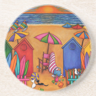 Summer Delight by Lisa Lorenz Beverage Coasters