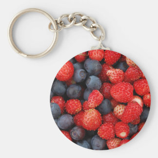 summer delights basic round button keychain