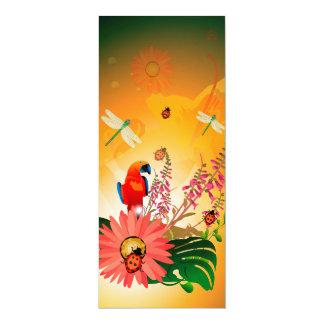"Summer design 4"" x 9.25"" invitation card"