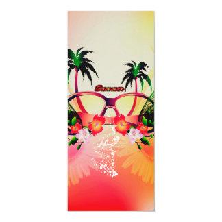 Summer design 4x9.25 paper invitation card