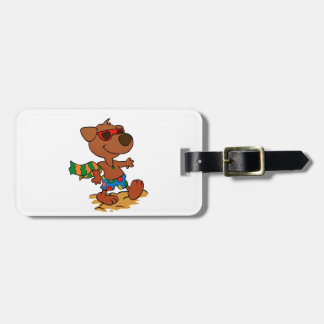 Summer dog luggage tag