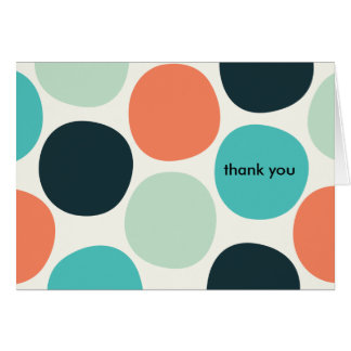 Summer Dots Thank You Note Cards