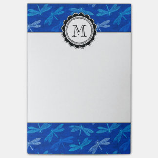 Summer Dragonfly Royal Blue Nature Lover Post-it Notes