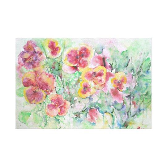 Summer dream. flowers canvas print