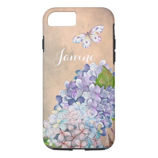Summer Dream Lilac-Blue Hydrangea Blossom iPhone 8/7 Case