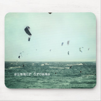 Summer dreams. Kite surf Mouse Pads