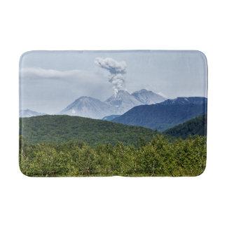 Summer eruption active volcano bathroom mat