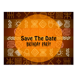 Summer Ethnic 18th Birthday Save the Date Postcard