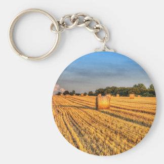 Summer Evening Farm Key Chains