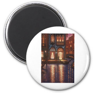 Summer Evening in Venice 2 Inch Round Magnet