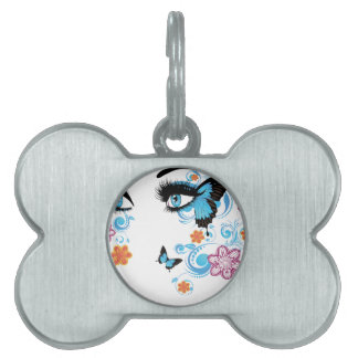 Summer Eyes with Floral2 Pet Tag