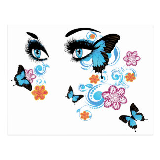 Summer Eyes with Floral2 Postcard
