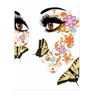 Summer Eyes with Floral 3 Postcard