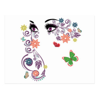 Summer Eyes with Floral 4 Postcard