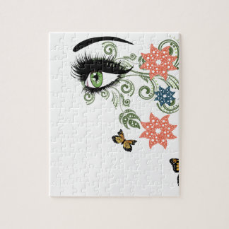 Summer Eyes with Floral Jigsaw Puzzle