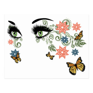 Summer Eyes with Floral Postcard