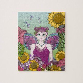 Summer Fairy with Dragonflies Jigsaw Puzzle