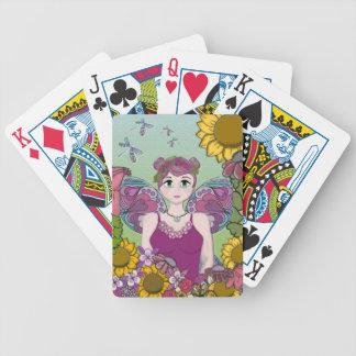Summer Fairy with Dragonflies Poker Deck
