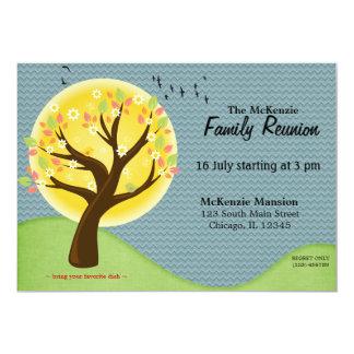 "Summer Family Reunion 5"" X 7"" Invitation Card"