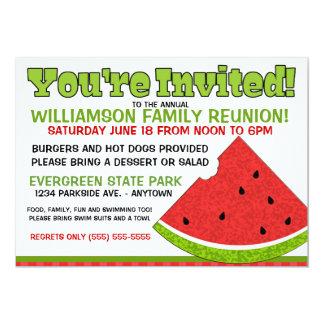 "Summer Family Reunion Invitation 5"" X 7"" Invitation Card"