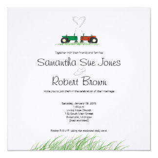 Summer Farm Wedding Invitation