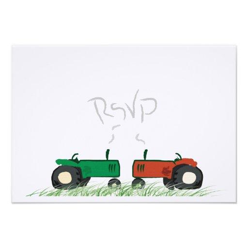 Summer Farm Wedding RSVP Card Invitation