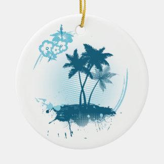 Summer feeling ceramic ornament