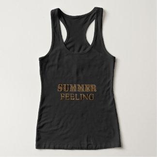 Summer Feeling Elegant Gold Look Typography Tank Top