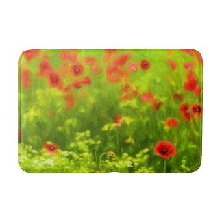 Summer Feelings - wonderful poppy flowers I Bath Mat