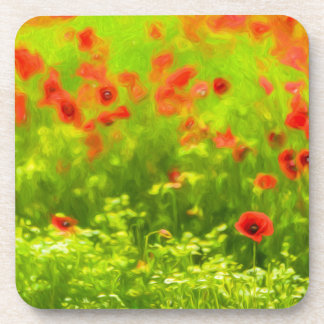 Summer Feelings - wonderful poppy flowers I Beverage Coasters