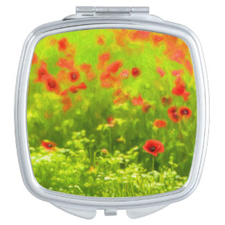 Summer Feelings - wonderful poppy flowers I Makeup Mirrors