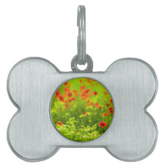 Summer Feelings - wonderful poppy flowers I Pet Name Tag