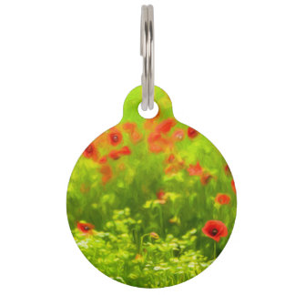 Summer Feelings - wonderful poppy flowers I Pet Name Tags