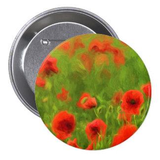 Summer Feelings - wonderful poppy flowers II 3 Inch Round Button