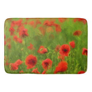 Summer Feelings - wonderful poppy flowers II Bath Mat