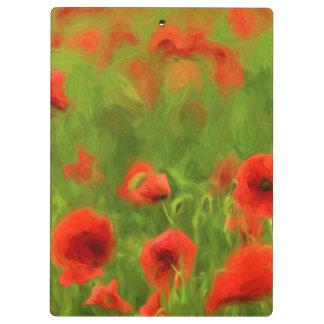 Summer Feelings - wonderful poppy flowers II Clipboards