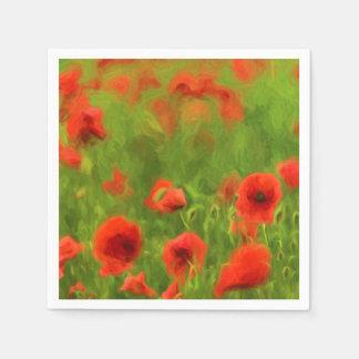 Summer Feelings - wonderful poppy flowers II Paper Napkin