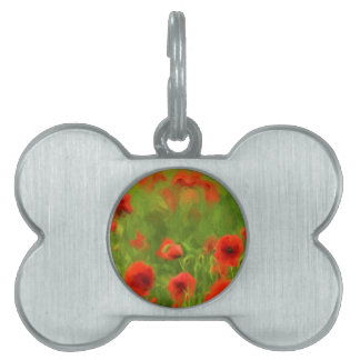 Summer Feelings - wonderful poppy flowers II Pet ID Tag