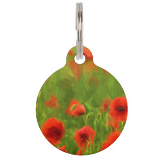Summer Feelings - wonderful poppy flowers II Pet Nametag