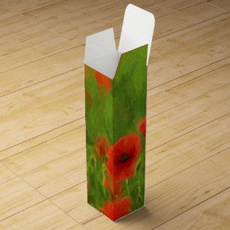 Summer Feelings - wonderful poppy flowers II Wine Gift Box