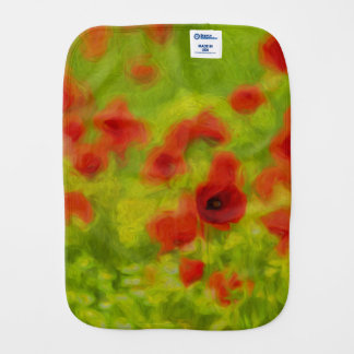 Summer Feelings - wonderful poppy flowers III Burp Cloths